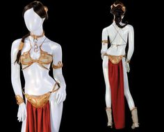 "Immortalized in countless cosplay tributes, an original version of Princess Leia's ""slave"" bikini outfit sells at auction for a high price."