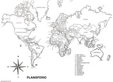 Mapa Mudo Poltico del Mundo  DIY  Pinterest  Elementary education