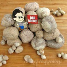 How to Make Edible Rocks http://www.hungryhappenings.com/2012/06/my-dad-rocks-edible-fudge-rocks-for.html