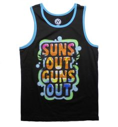 2f09f1bb6b7ab5 Suns Out Guns Out Spring Break Men s Graphic Tank Top Suns Out