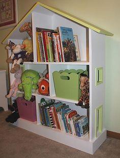 dollhouse bookshelf - DIY plan by ana white