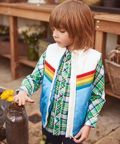 Little Bird by Jools Stripe Gilet. The Little Bird gilet is the perfect addition to your child's wardrobe and ideal for any time of year.
