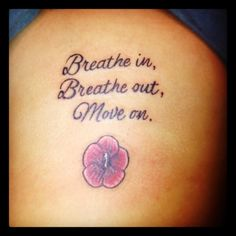 """Thanks Jimmy Buffett #tattoo   I have a """"breath in, breathe out, move on"""" tattoo   <3 it"""