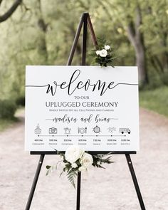 ceremony signs Unplugged Ceremony and Timeline Sign, Printable Timeline, Wedding Day Schedule, No Phones or Cameras Editable, Templett Wedding Day Schedule, Plan Your Wedding, Dream Wedding, Wedding Order Of The Day, Planning A Wedding, Wedding Planner, Wedding Checklists, My Perfect Wedding, Festa Toy Story