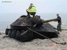 Images of the Hetzer pulled from the Gulf of Gdansk in 2007!