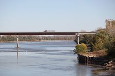 This is Anthony Cornett's photo of a bridge over the Missouri River at Boonville, Missouri. Boonville Missouri, Missouri River