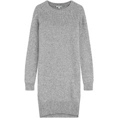Kenzo Sweater Dress ($305) ❤ liked on Polyvore featuring dresses, grey, kenzo, sweater dress, kenzo dress, grey sweater dress and gray dress