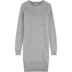 Kenzo Sweater Dress (4.255.575 IDR) ❤ liked on Polyvore featuring dresses, grey, gray dress, sweater dress, kenzo, kenzo dress and grey dress