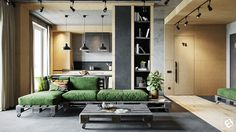 Industrial Style Living Room Design
