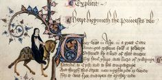 Chaucer's Prioress from the Ellesmere Manuscript, 1450ish.  Larger picture at source.
