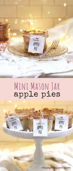 Mini Mason Jar Apple...