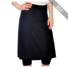 155aae91b6a Women s Knee Length Running Swim Skirt With Leggings in Plus Size   Running  skirt with leggings made in light weight fabric with UV protection