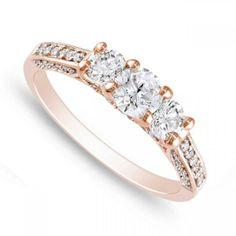 http://shineonyourdiamond.blogspot.com/ 1 Carat Engagement Rings Vintage Rose Gold 15