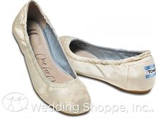 54f2eee5f741 Shoes TOMS Ballet Flats Wedding Shoes Image 1 Wedding Flats For Bride