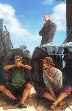 One Piece - König der Piraten Rayleigh, Shanks and Buggy How To Choose The Right Faucet Today's fauc One Piece Manga, One Piece Drawing, One Piece Comic, One Piece Fanart, One Piece Pictures, One Piece Images, One Piece World, One Piece Ship, One Piece Zeichnung