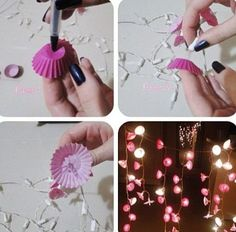 Make it yourself twinkle lights home decor projects декор ко Diy Room Decor For Teens, Teen Room Decor, Diy For Teens, Crafts For Teens, Diy And Crafts Sewing, Crafts To Sell, Diy Crafts, Diy Tumblr, Diy Christmas Lights
