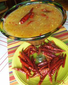 Tomatillo and Chile de Arbol Salsa | Hispanic Kitchen