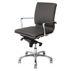 Linda Office Chair, Dark Grey | Memoky.com