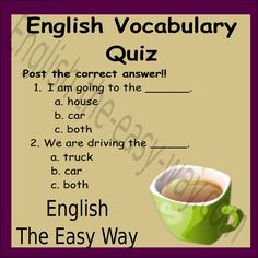 Post your answers & share with your friends...  #EnglishVocabulary