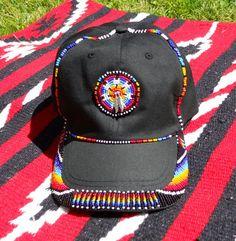 Bead embroidered baseball cap: