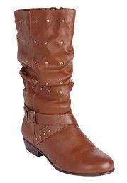 Plus Size Ida Studded wide calf boot image