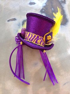 Fleurty Girl - Everything New Orleans - College Fancy Hat Headband - Hair Flair - Footwear & Accessories
