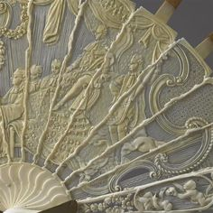 Detail from an ivory fan, circa 1775, which depicts Louis XVI restoring the Parlement of Paris. image: (C) Musée du Louvre, Dist. RMN-Grand Palais / Martine Beck-Coppola