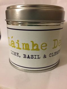 Lime, basil and clementine   A clean, fresh and sweet smell. Not overpowering, really lifts a room up!