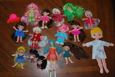 Large Variety Lot of 15 Ideal 1970s Flatsy Dolls
