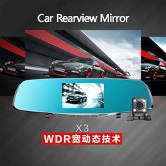 67.25$  Buy here - http://alipoz.worldwells.pw/go.php?t=32759047109 - Newest Car DVR Blue Rearview Mirror Dual Camera Full HD 1080P Dash Cam 170 Degree Night Vision WDR Video Recorder Auto Camcorder 67.25$