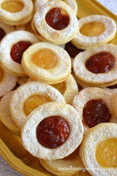 Ciastka bez jajek (Ciastka oczka z dżemem) Baby Food Recipes, Sweet Recipes, Baking Recipes, Cookie Recipes, Dessert Recipes, Eggless Desserts, Sweet Desserts, Delicious Desserts, Polish Desserts