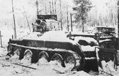 Feb 11, 1940 -Russia overwhelmed Finland with over 120,000 troops, breaking through defenses at the Karelian Isthmus...Today may be the beginning of the end for Finland   Soviet BT-5 tank captured by the Finnish Army, near Lemetti, Finland - image taken from ww2db.com