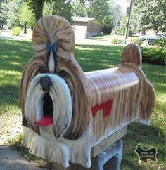 Shih~Tzu Mailbox! Awesome!!