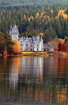 Glen Bogle Castle, Ardverikie Estate, Kinloch laggan, south of Inverness, Scotland. This reminds me of the castle from the movie Frozen! Places Around The World, The Places Youll Go, Places To See, Around The Worlds, Beautiful Castles, Beautiful World, Beautiful Places, Beautiful Forest, Stunningly Beautiful