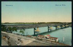 Pocztówka: Warszawa, most na Wiśle, Wydawnictwo K. Wojutyńskiego (1912)