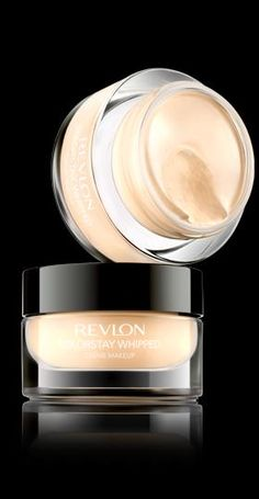 Revlon® Colorstay Whipped™ Crème Makeup.%0ABOUNCY, WHIPPED INDULGENCE WITH UP TO 24-HOUR WEAR.%0AMy Shade: SAND BEIGE.