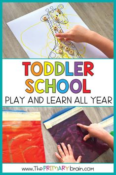 Play and learn all year with your 2 to 3 year old child through Toddler School Curriculum! Work on letter of the week through 26 complete #toddler units. Activities for children include hands-on sensory bins, crafts, fine and gross motor skills, art, and math in each of the 5 lessons per #toddlerunit. Perfect for the homeschool preschool family, daycare, or #school setting. Materials list and lesson plans are provided to make teaching easy and stress free! Lesson Plans For Toddlers, Preschool Lesson Plans, Preschool Curriculum, Preschool Classroom, Literacy Activities, Preschool Activities, Toddler School, School Play, Tot School