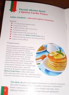 Ciasta, ciastka, ciasteczka.... Słodka chwila zapomnienia. : Placuszki jaglano - bananowe z Optima Cardio Potas...