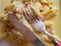 Pâtes aux courgettes façon carbonara a la jamie olivier