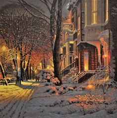 One of the most popular artists in Canada, Richard Savoie, draws pictures that are literally full of feelings of winter. Illustrations, Illustration Art, Kinkade Paintings, Most Popular Artists, Russian Painting, Winter Painting, Winter Scenery, Christmas Scenes, Winter Pictures