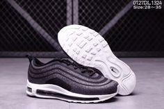 Cheap Nike Air Max 97 LX Swarovski Gray Black Kid shoes WhatsApp  8613328373859 ee52b2393
