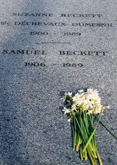 Samuel Beckett's grave - Montparnasse cemetery, Paris http://edwardeke.blogspot.it/2010/04/born-on-this-day-1906-sb.html