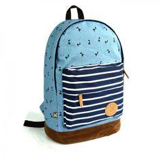 $39.99  Sweet Cute Deer & Strip Print Canvas Backpack Color: Dark Blue/Light Green/Fluorescent Green/Light Blue