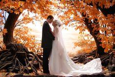 Trends der Herbst-Hochzeit - Deko, Frisuren, Kleid und mehr