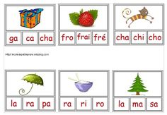 Pincer la bonne syllabe - L'école de petite Prune Read In French, French Kids, Learn French, Montessori Math, Montessori Materials, Kindergarten Literacy, Core French, French Education, French Grammar