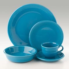 Following in the footsteps of my wonderful aunt & sister; just bought 7 sets of this sturdy dishware...in 7 different, fun colors of course ;) #fiestaware
