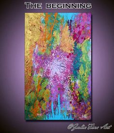 48''Abstract Painting Large Print Lilac Art por JuliaApostolova