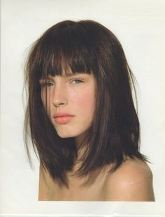 Long Bob with Bangs Long Bob with Bangs and Medium Brown Warm Hair Color. Long Bob with Bangs and Medium Brown Warm Hair Color. Full Fringe Hairstyles, Bob Hairstyles With Bangs, Straight Hairstyles, Hairstyles Haircuts, Bob Haircuts, Bob Hairstyles How To Style, Round Face Hairstyles Long, Famous Hairstyles, Trendy Haircuts