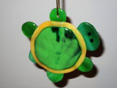 SUNCATCHER-ORNAMENT  Fused Glass Turtle by OstisInspirations
