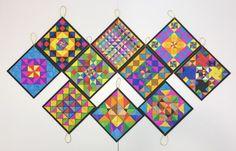 초등미술 아트 프로그램 패턴 그리기아트앤하트 별내미술학원 오늘의 초등미술 아동미술 수업은 정삼각형 3...